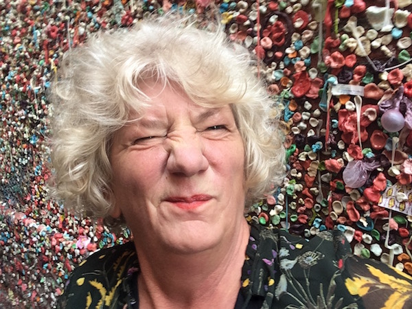 """One popular tourist spot in the market I suggest you skip is the famous """"Gum Wall."""" Yuck!"""