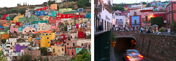 Life in Guanajuato happens almost equally above and below ground. If you aren't going up a long narrow stairway, perhaps you are going down into the chiseled maze of tunnels used by both cars and pedestrians to avoid the choked streets of the city.