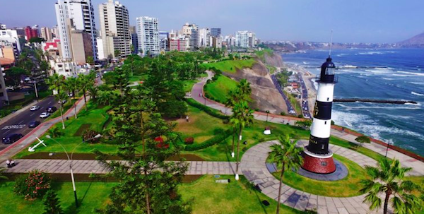 The Miraflores Boardwalk started just across the street from our Airbnb.