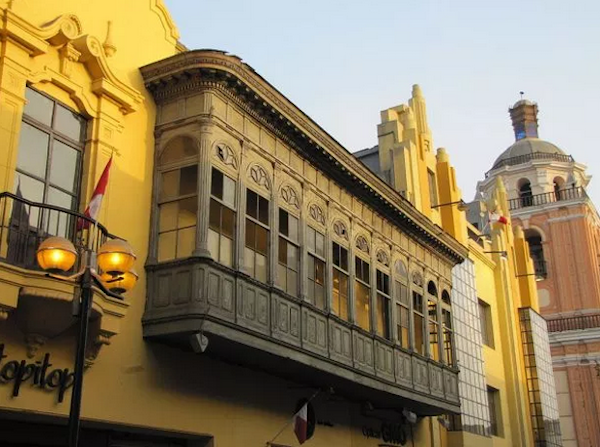 Lima's historic center glowed with the golden yellow color reserved for Spain's government buildings.