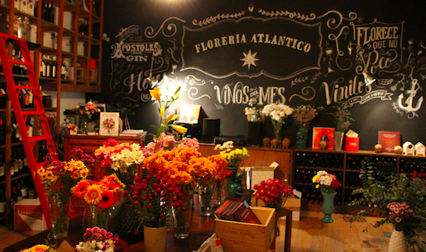 Innocent flower and wine shop by day. All night speakeasy after 8. Just enter through the flower cooler.