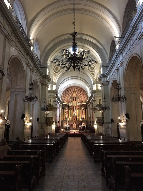 The interior of Inglesia Matriz was one of the most elegant churches we've seen on our travels.