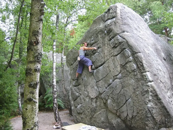 "The sport of ""bouldering"" in the Fountainebleau forest is a big draw to the area."