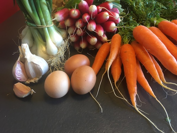 Shopping at the fresh markets in France is so satisfying. I don't know why, but carrots take on a new status.