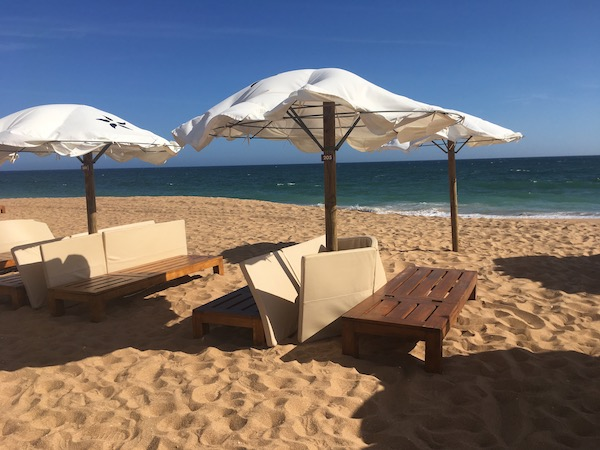 Our Airbnb was just a few minutes walk from the Praia Azul beach. We were surprised to find it almost deserted most days - but that won't last long.