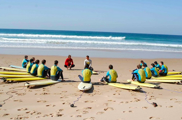 Surfing school in session