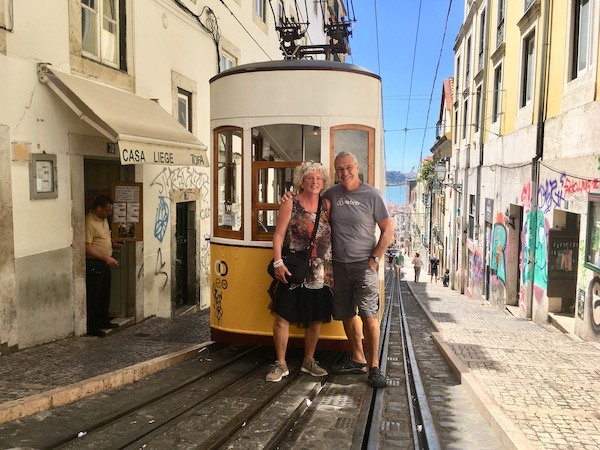 The fenicular is another way to get up the hillside in Barrio Alto.