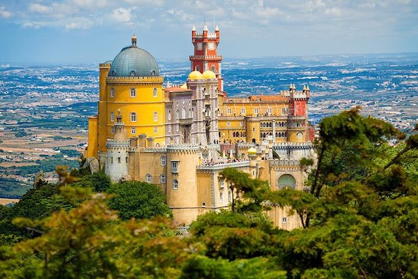 The Palacio de Pena in Sintra is a place that shouldn't be missed.