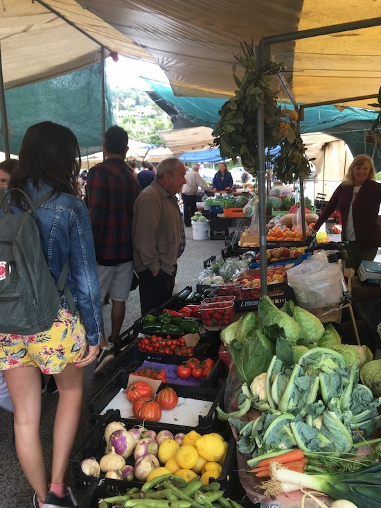 Anabela took us to a local market where there were very few tourists.