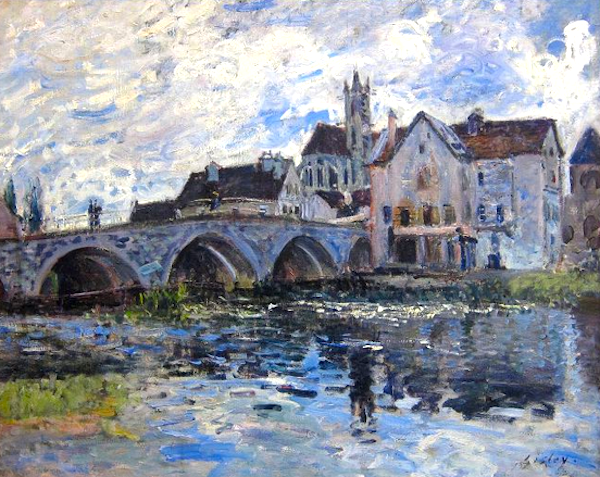 Renowned impressionist Alfred Sisely painted this same view of the bridge in 1887.