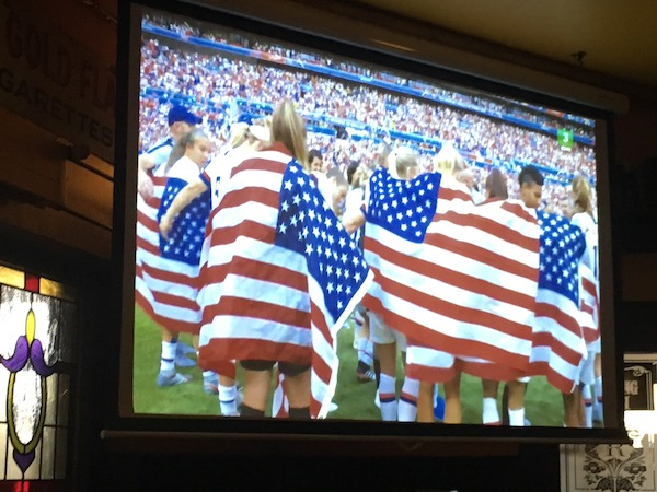 We enjoyed watching all of the USA Women's World Cup Matches either on line or in local pubs. It was so much fun to watch these warriors - and especially cheer on our home town hero, Seattle's Megan Rapinoe.