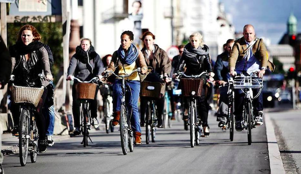 We chose to walk everywhere, but over 52% of Copenhagen residents commute by bike. Be careful when you step into the street - the bike lanes are not particularly well defined here.