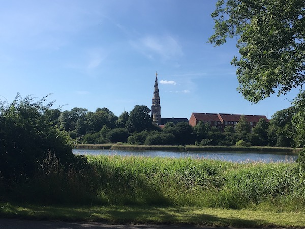 The Christianhavn Vold - a lovely walk near our Airbnb. You can see the church next to our house.