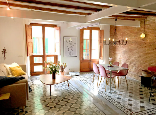 The light and lovely interior of our Airbnb. We shared the space with the owners, a very welcoming young couple that did their best to offer privacy. Sharing is a good thing … unless it's bathrooms. However, entire apartments in July in Barcelona were priced sky high, so we compromised.