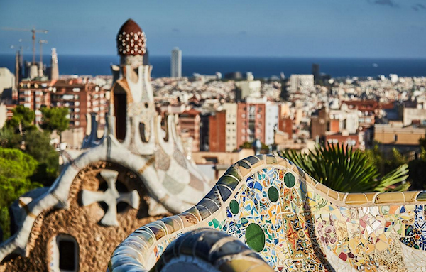 The view from the top of Parc Guell was worth the climb. Part of the benefits of our travel has been all the walking we do each day. We're averaging 3+ miles a day.