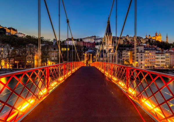 Lyon is a beautiful city day and night.