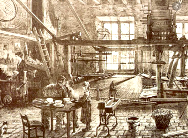 In a silk makers home, you lived with your loom and weaving was a family affair. Note the high beamed ceilings and large windows - these former ateliers are now highly sought after (and very expensive) by the affluent hipsters moving into the Croix-Rousse neighborhood.