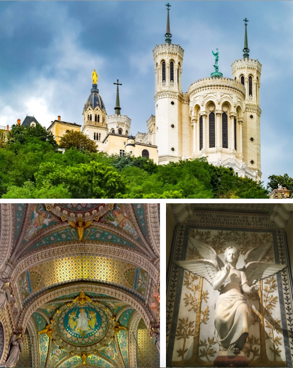 The top photo is of one of my favorite fountains in all of Europe. I could have looked it at for hours. And then a few pictures from the  Basilica of Notre-Dame de Fourvière  - one of my favorite churches in all of Europe!