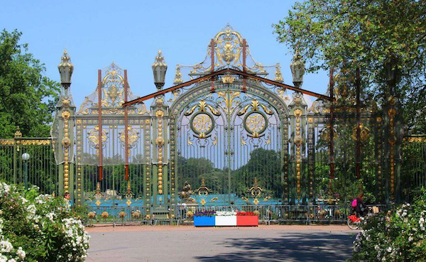 The magnificent gates to the botanical gardens Lyon. It is a huge green oasis in the center of the city complete with a lake and a free zoo.