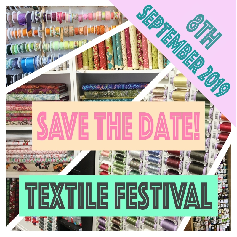here at sidmouth fabrics we are so excited to announce the very first textiles festival in devon on the 8th of september 2019 -