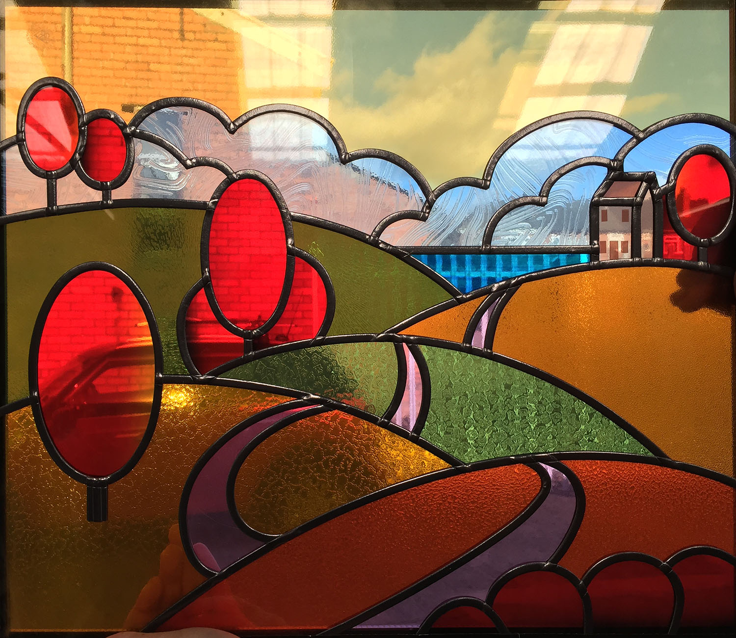 Clarice Cliff Inspired Landscape