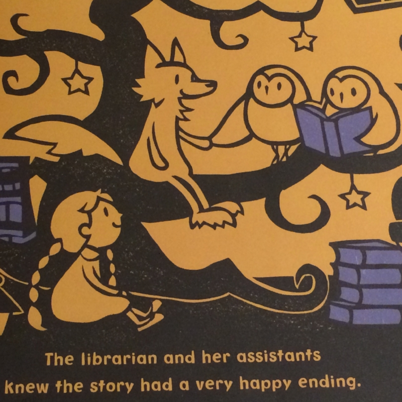 This is one of my favorite scenes in  The Midnight Library  by Kazuno Kohara.