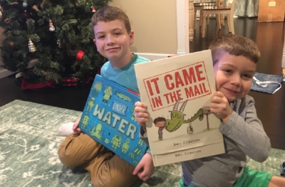 The Boys with their New Year's Day books. Posted with Permission.
