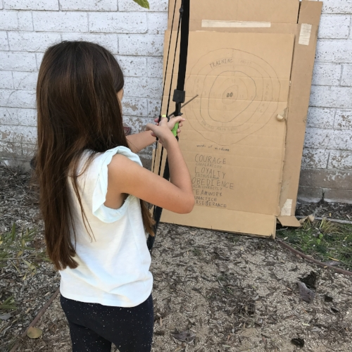 Little Lion made her own target for practice a few months ago. Posted with permission.
