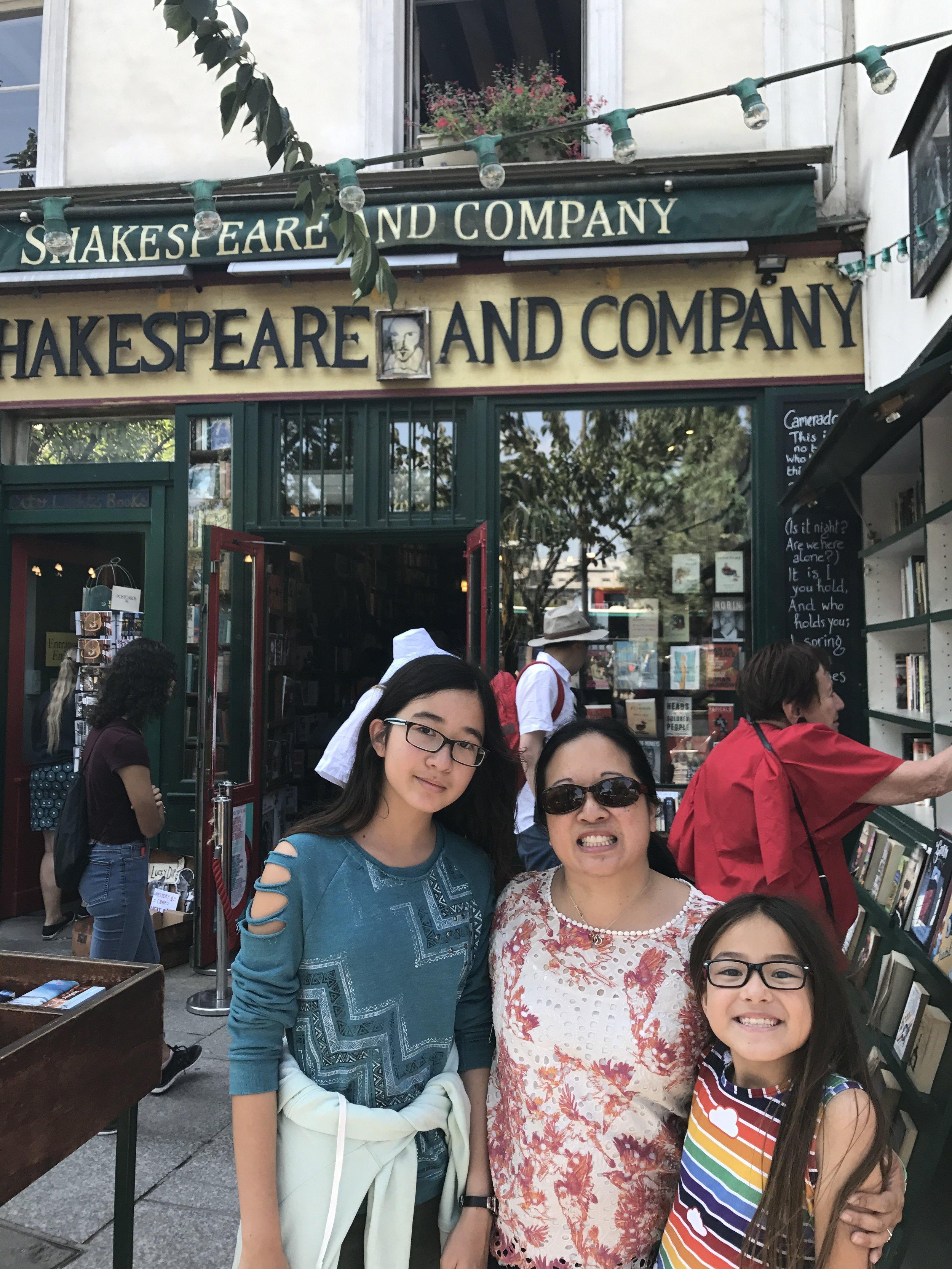 Shakespeare and Co Bookworm Girls.JPG