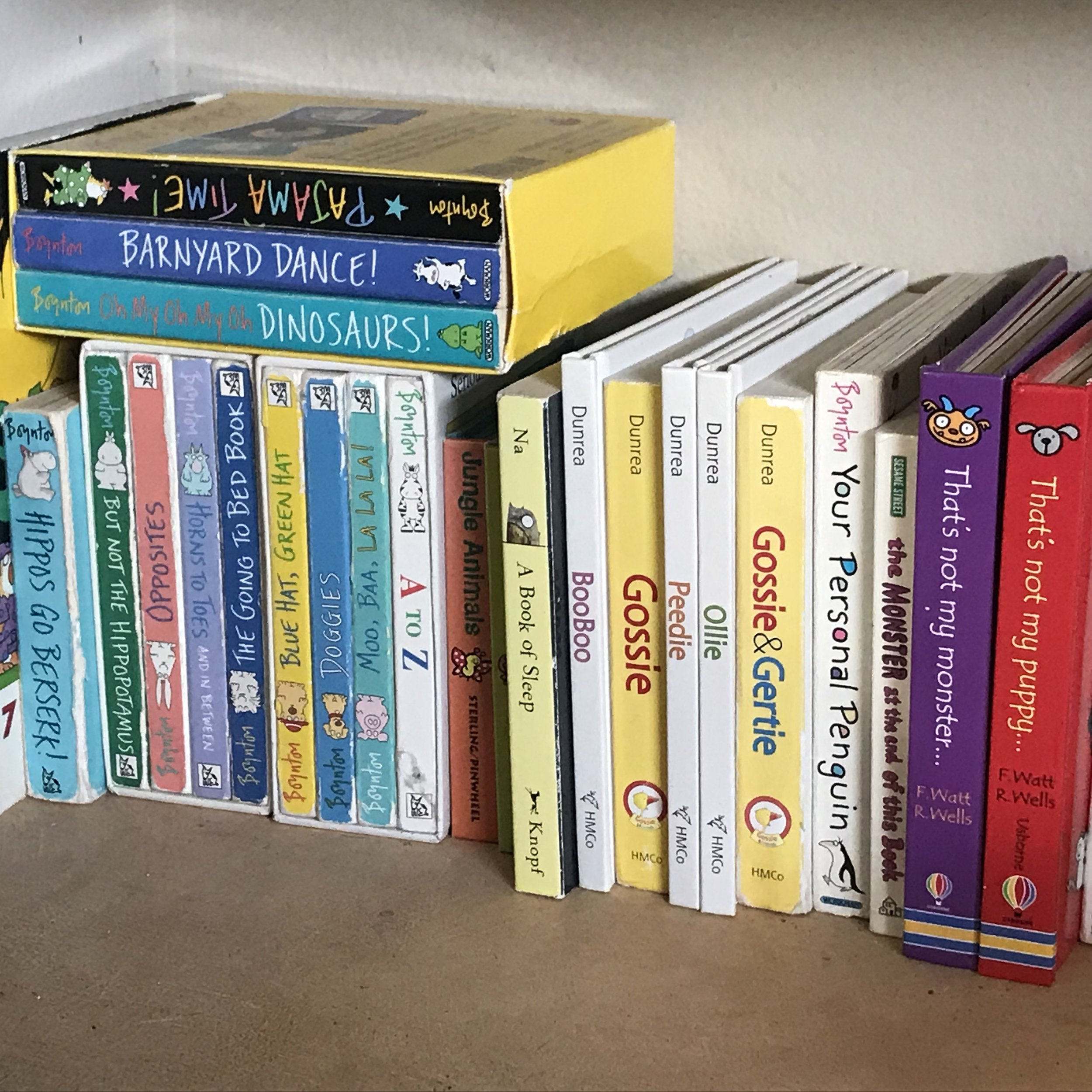 A collection of the Bookworm family's favorite board books.