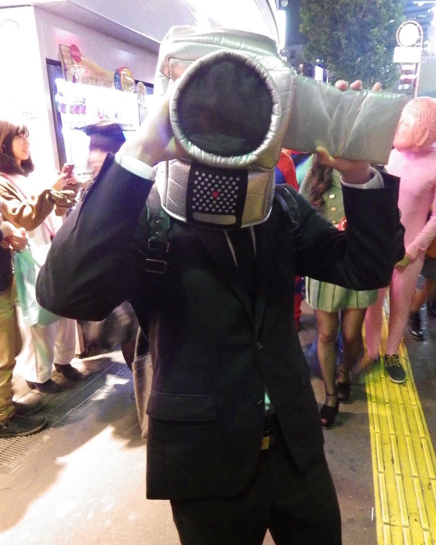 Shibuya cosplayer dressed as  Eiga Dorobou  on Halloween Night 2015.