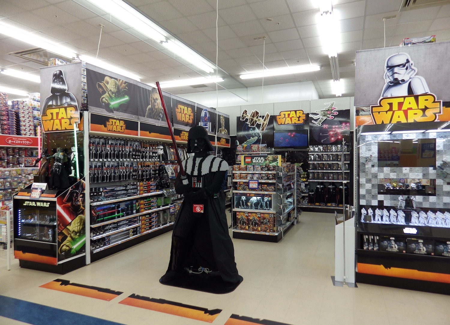 Destination Star Wars was a special section in the Odaiba store that led the charge in overstocking  Star Wars  goods. Two years later, many of the new  Force Awakens  goods would still be on the shelves at stores around Tokyo, with figures of obscure characters like Constable Zuvio posting clearance prices.