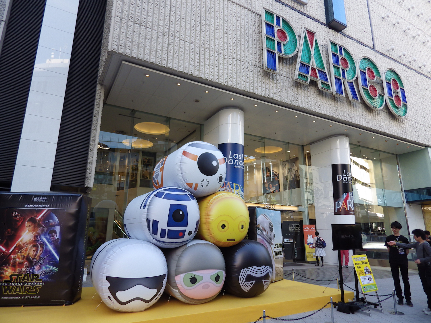 The Tsum Tsums were there in order to help promote the release of  The Force Awakens  on home media.