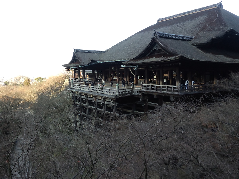 The main hall of Kiyomizudera Temple in Kyoto.