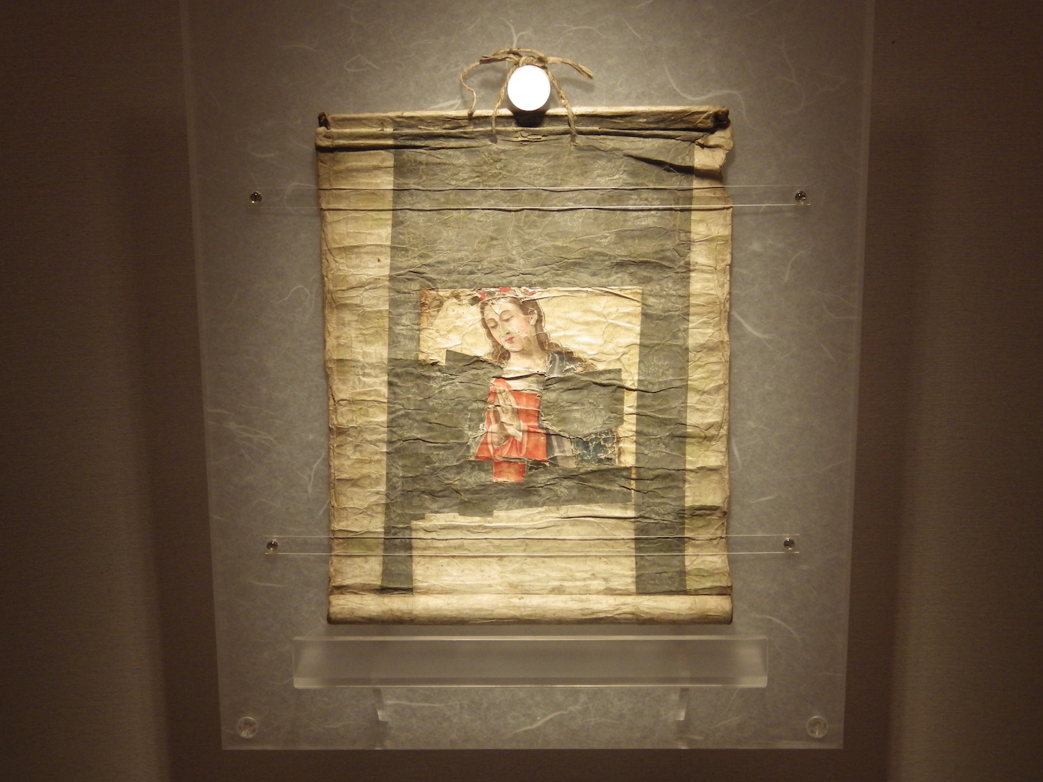 Our Lady of the Snows, a scroll reproduced for the scene where Rodriguez leads the hidden Christians in worship.