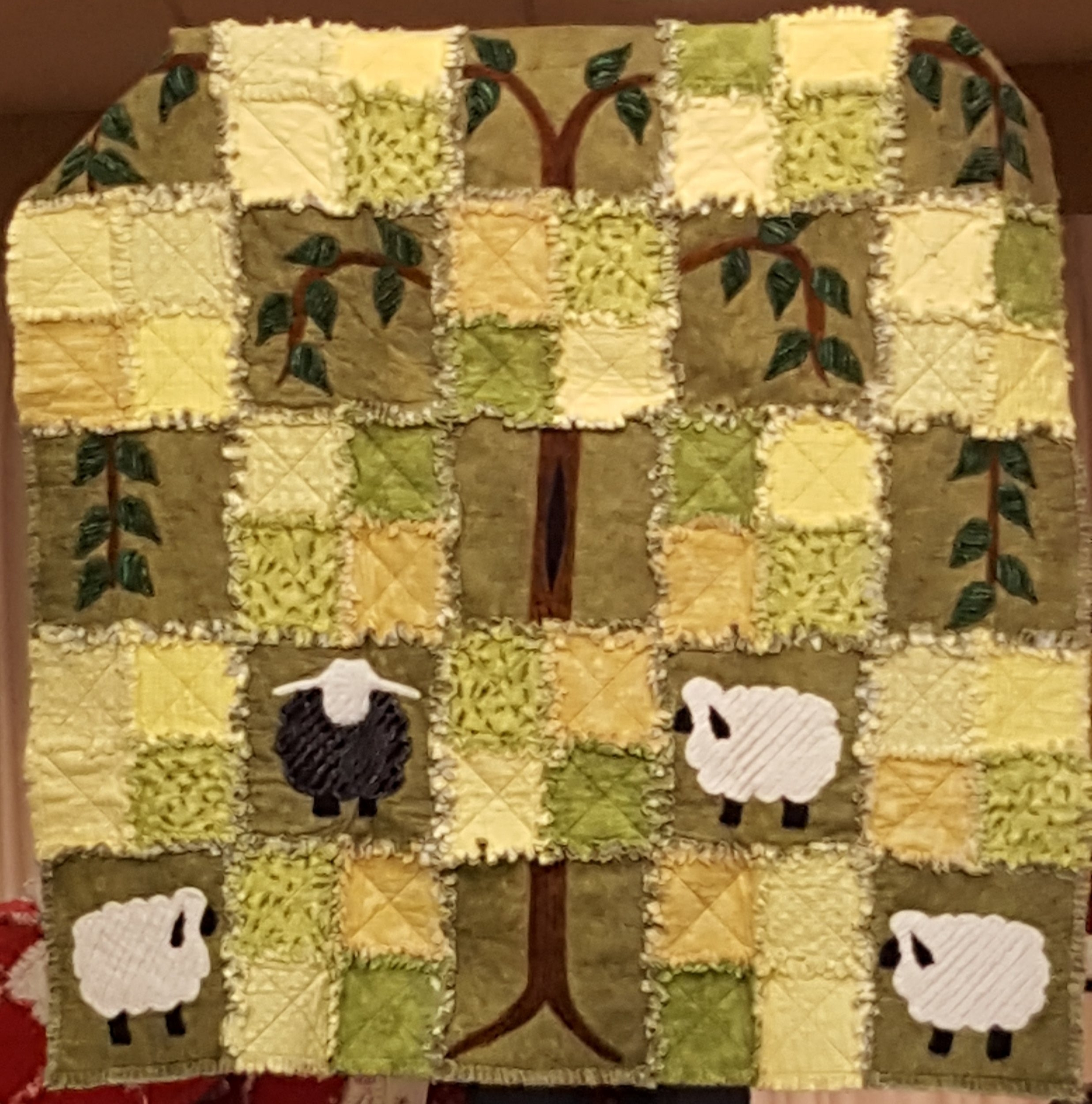 speaker sheep under tree rag quilt.jpg