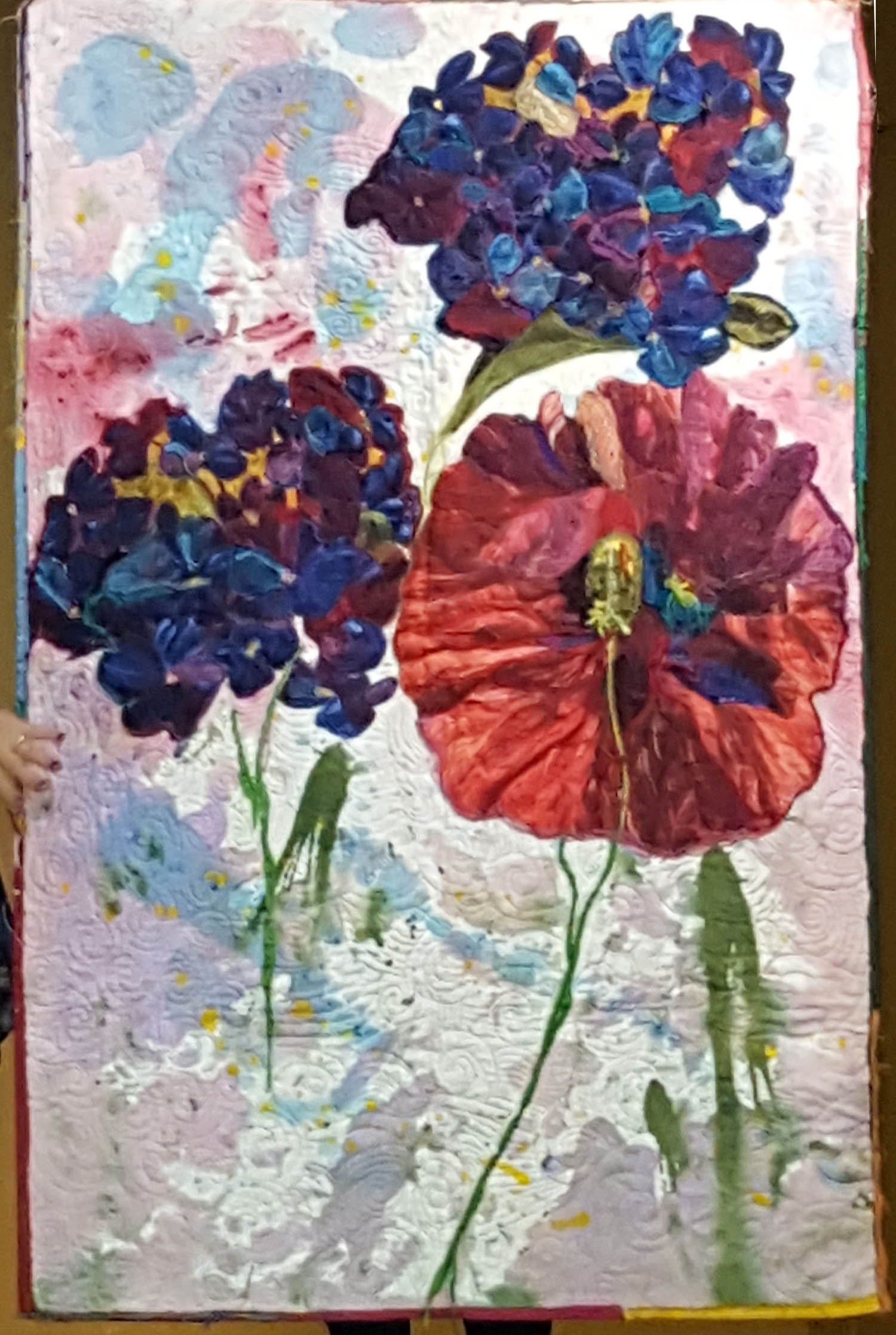 Thread-punked flowers on painted canvas back.jpg