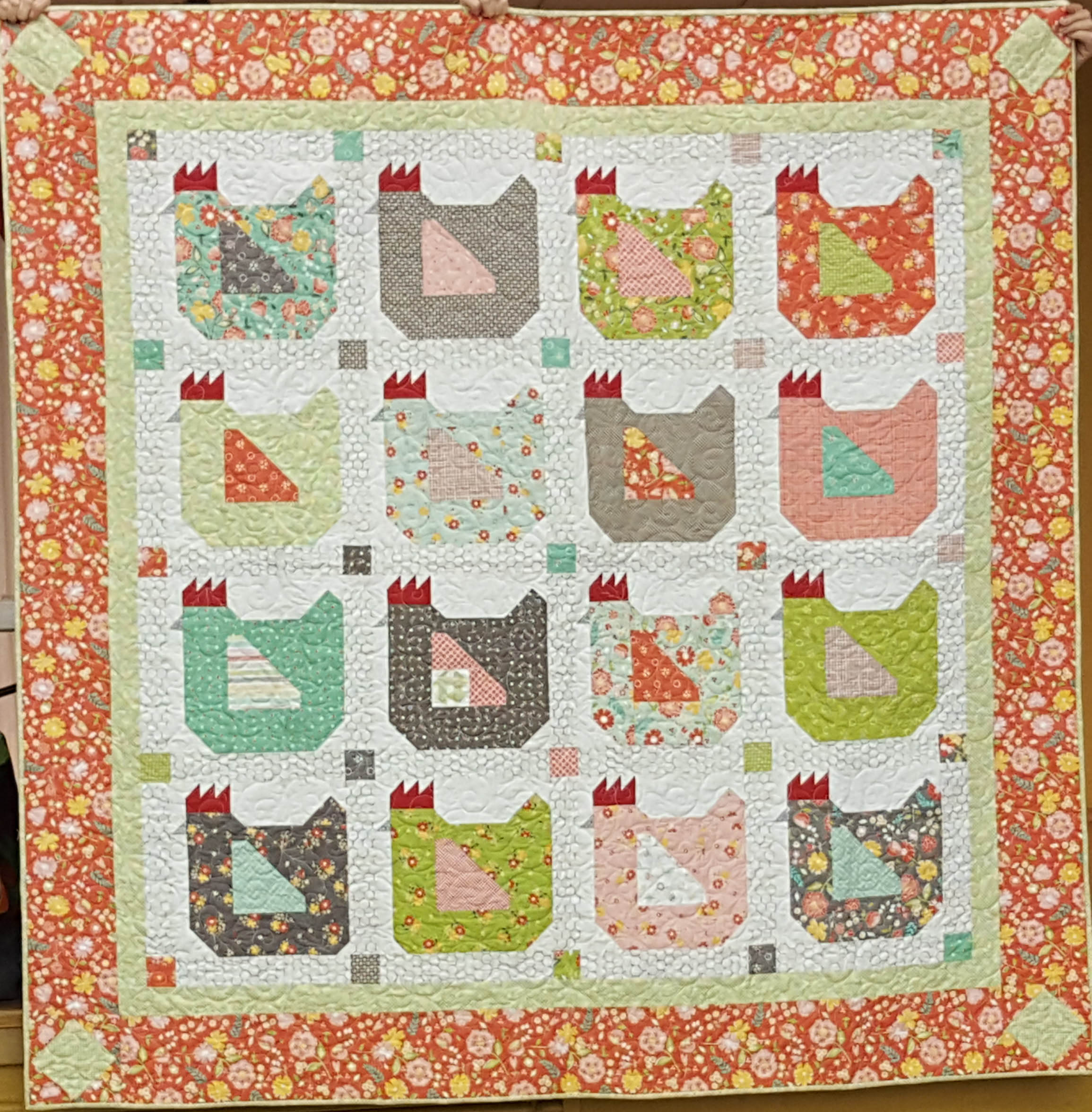 Why do Chickens end up on quilts?