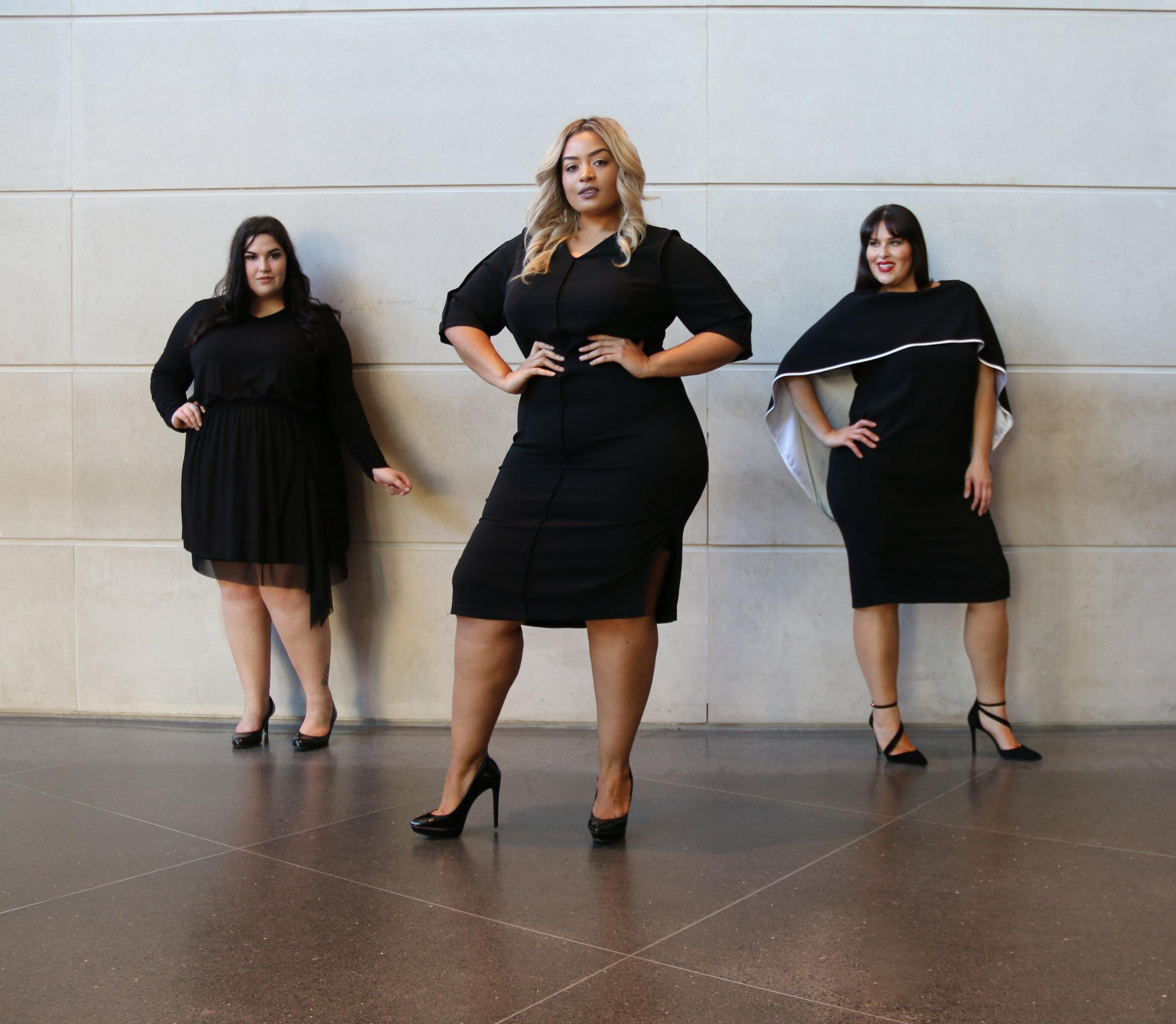 Models  (left to right): Faith Costa, Desiree Jenkins, Rebecca Ballister  Photo :Nancy Anteby