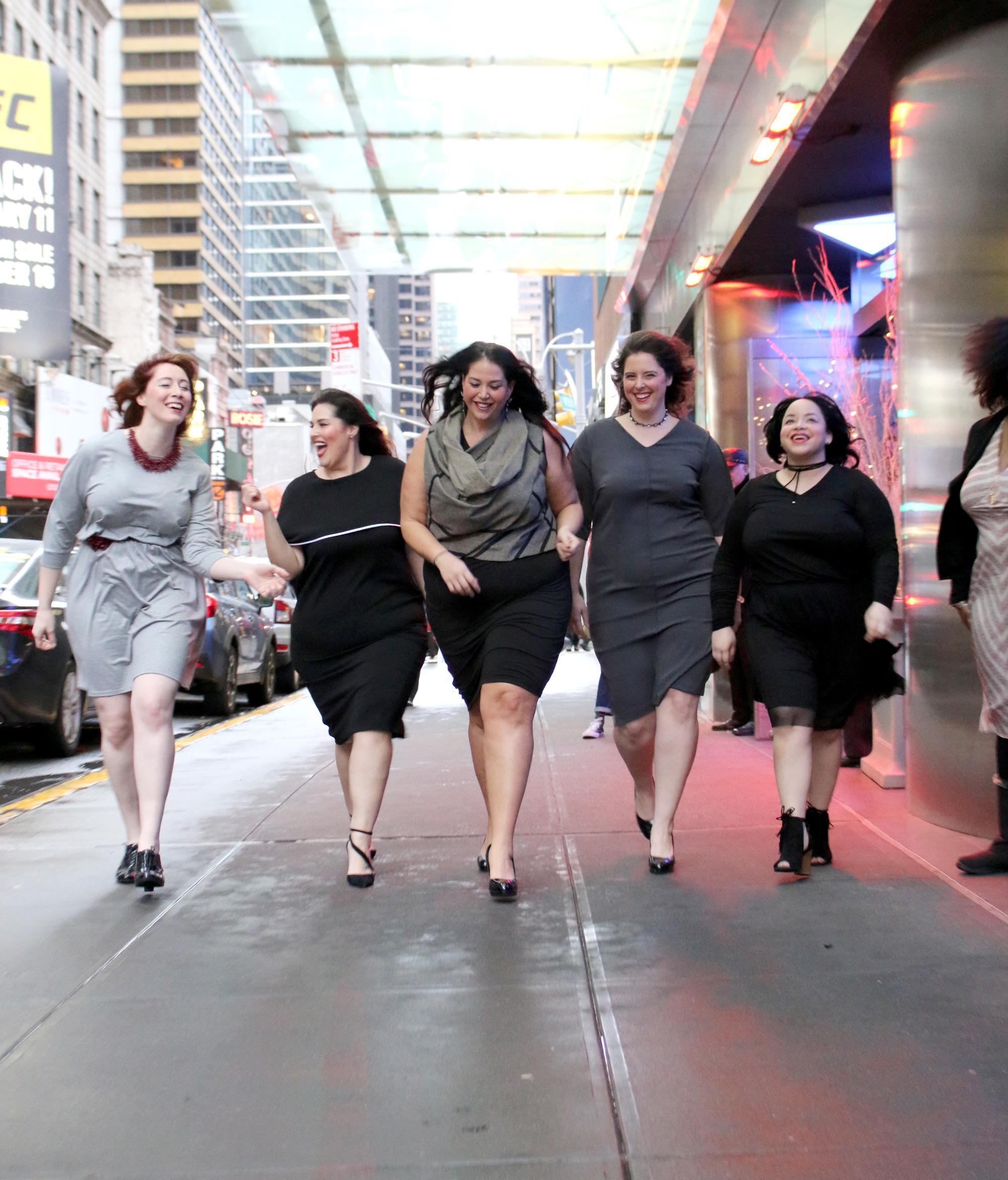 Models (left to right):   Megan Pustaver, Rebecca Ballister, Michelle Tesman, Sarah Whitney, Pressila Stewart Photo:Nancy Anteby