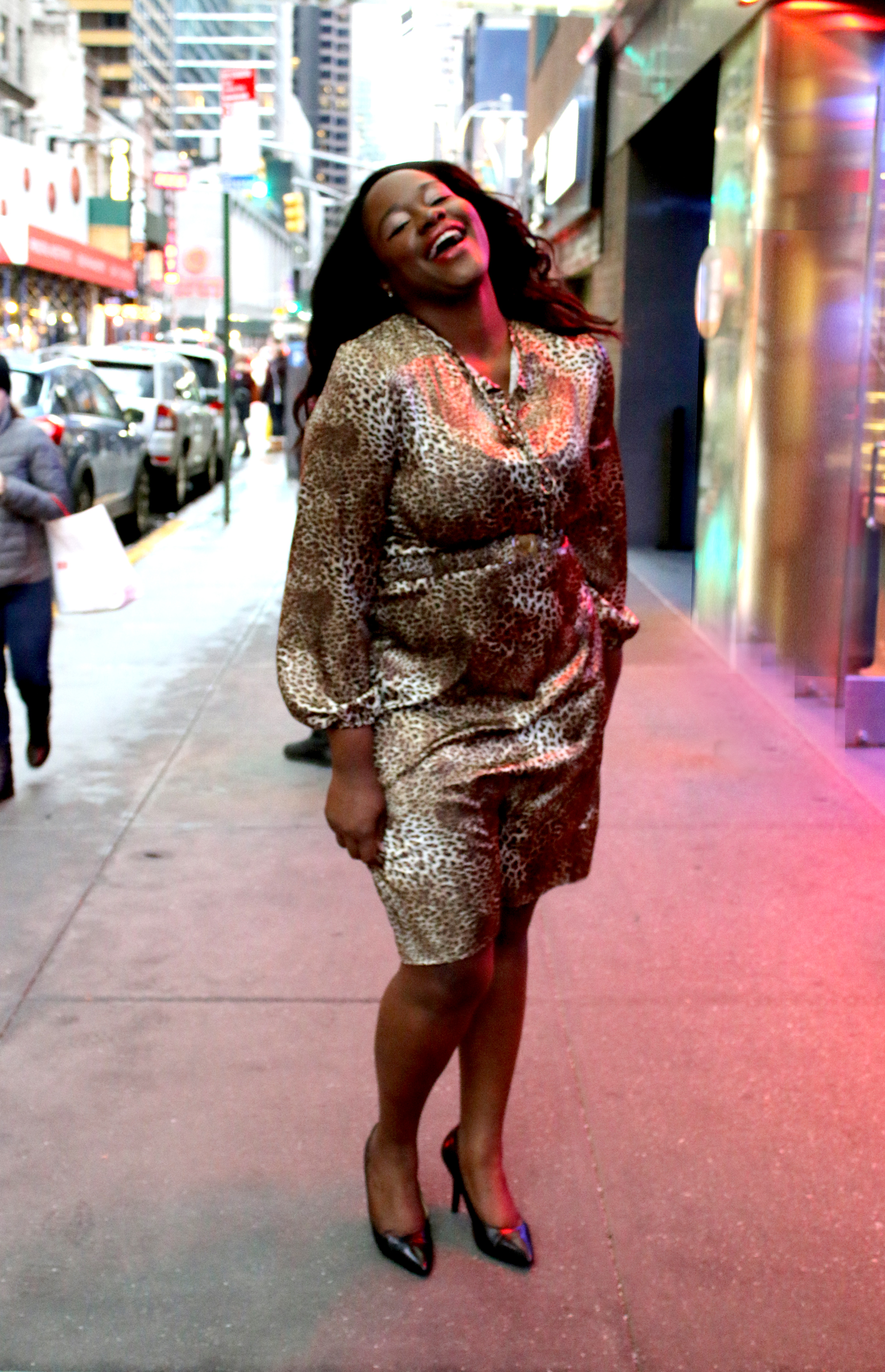 Model: Tonee Law Photo:Nancy Anteby Style: Cinched Waist Flair Dress