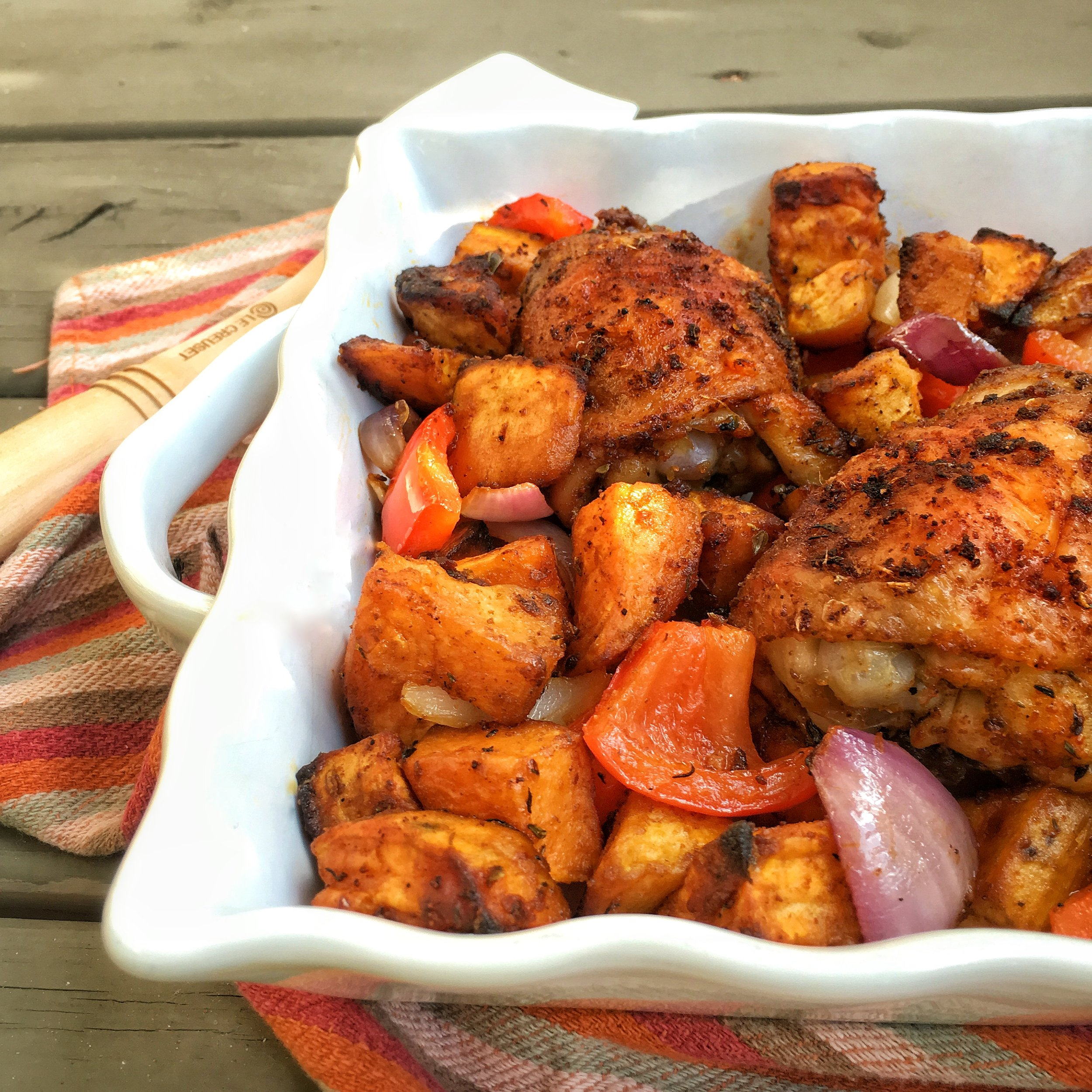 Recipe One Pan Cajun Chicken And Sweet Potatoes Kitchen Confession