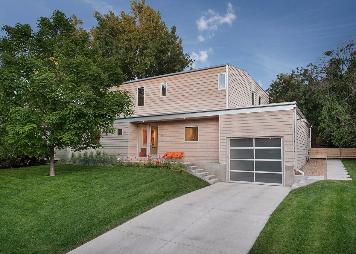 modern, gray washed home in boulder, co
