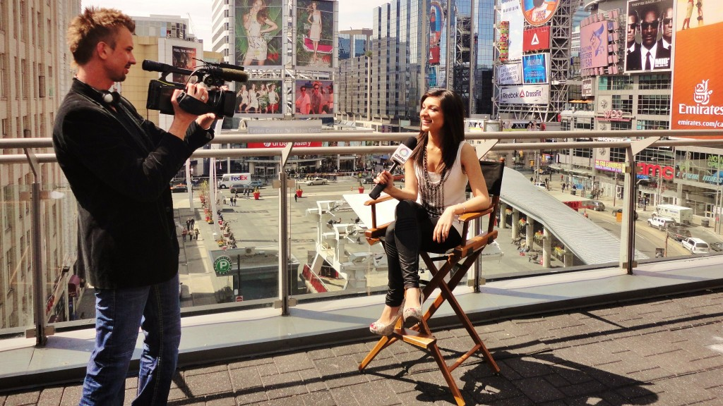 Reporting for OMNI Television - 2013