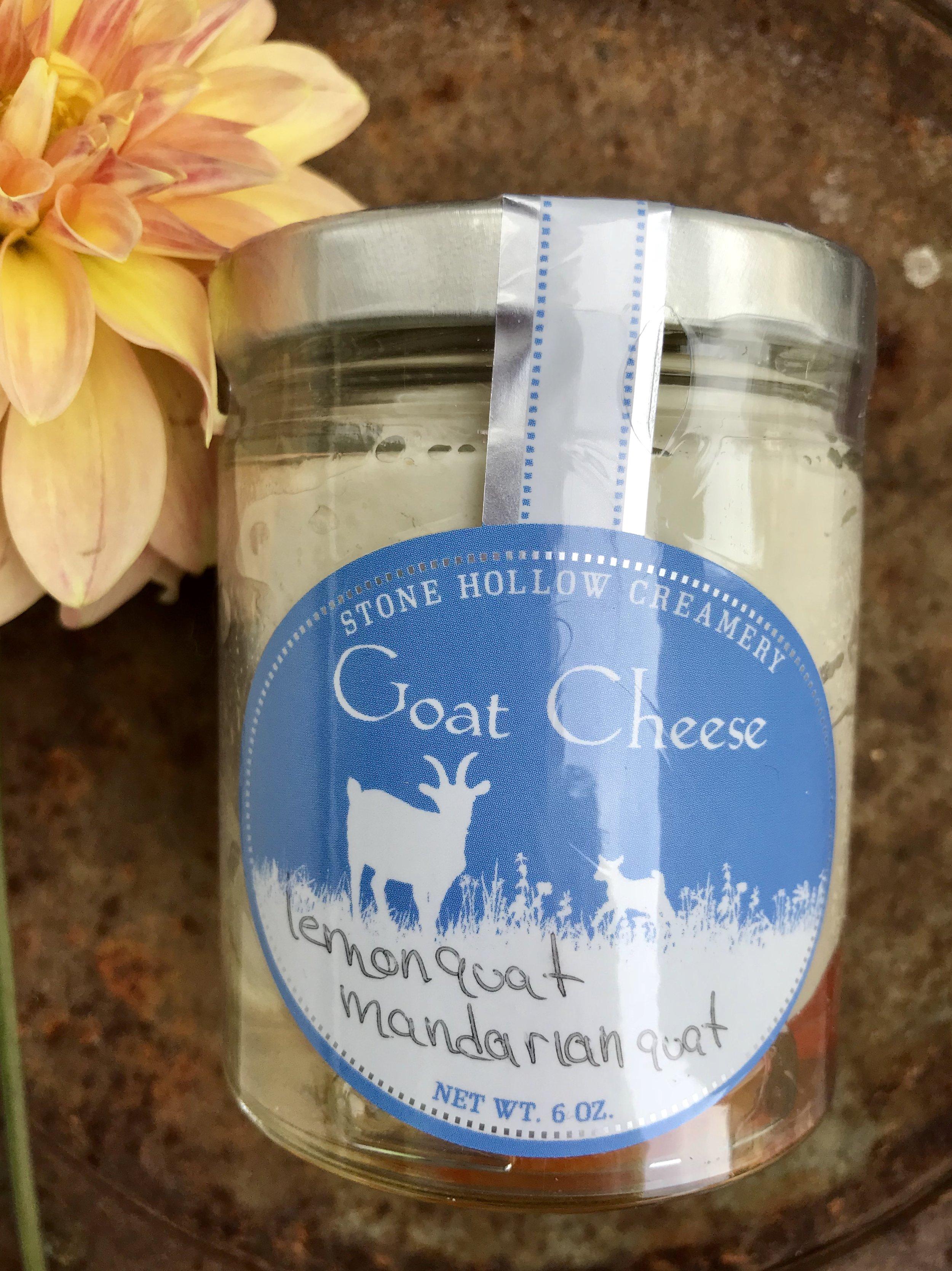 Kumquat Marinated Goat Cheese /  Mountain View Orchards