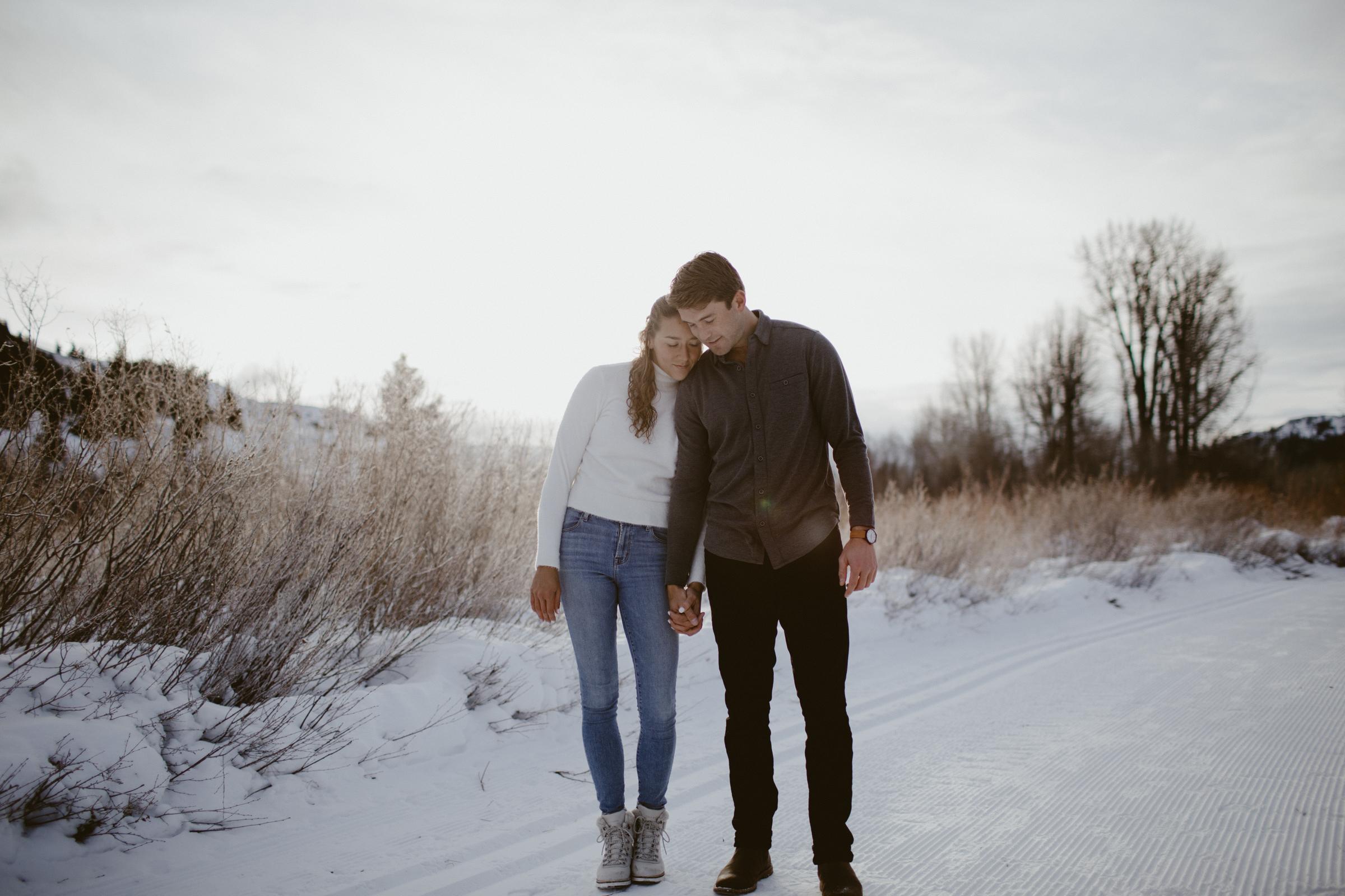 Chloe & Travis Sun Valley Engagement