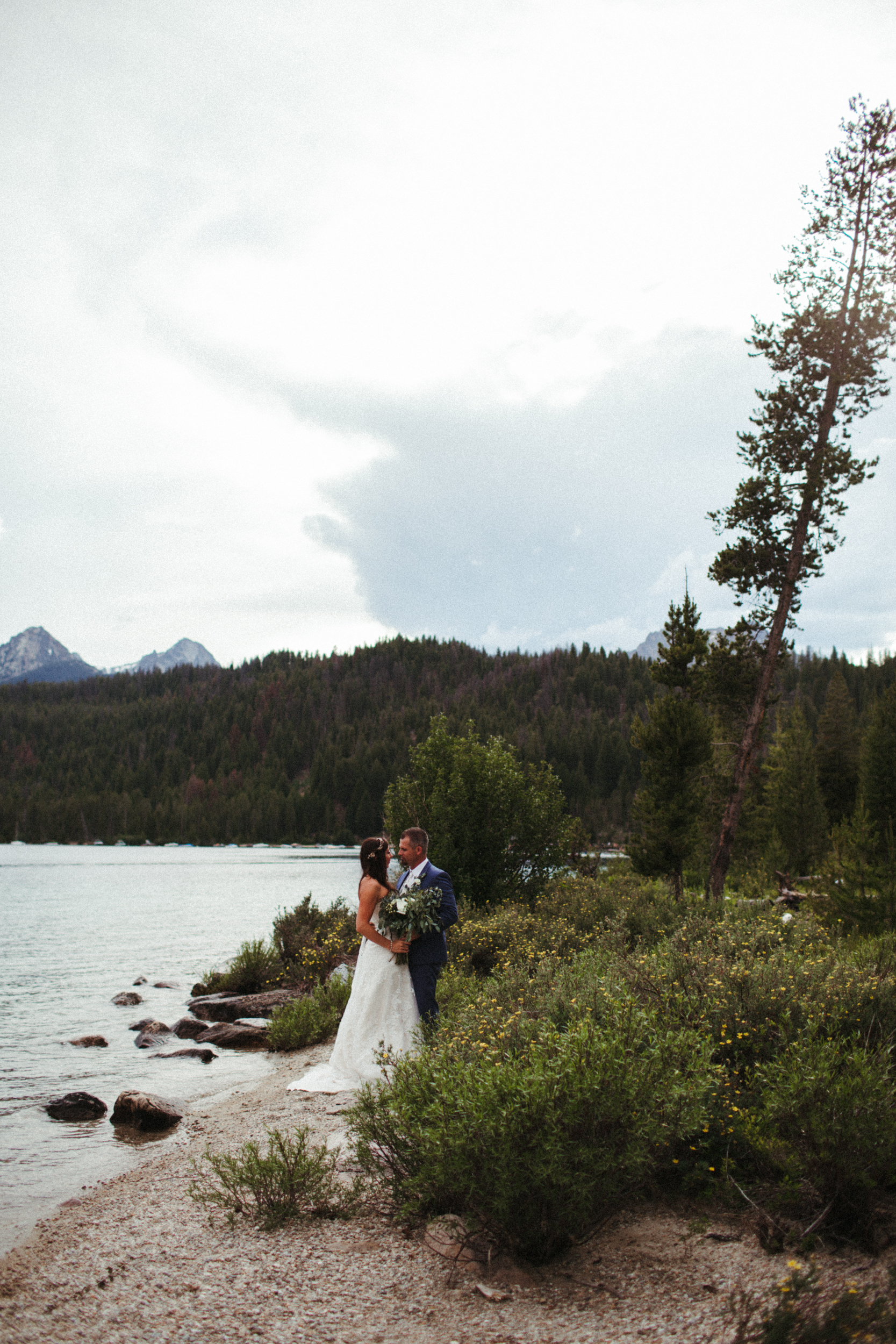 Jerica + Von | Redfish Lake Elopement