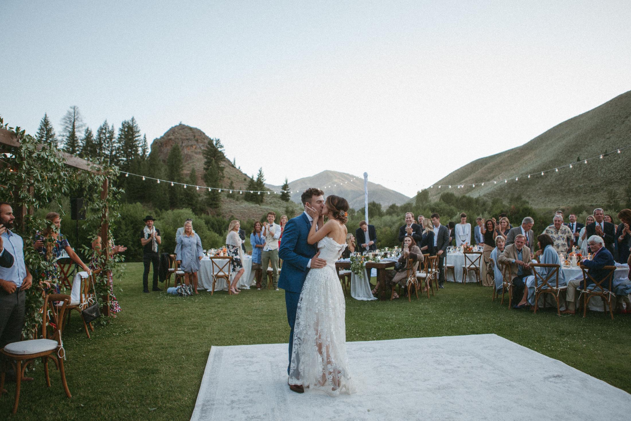 Jared & Juli | Trail Creek Cabin Wedding | Sun Valley Idaho