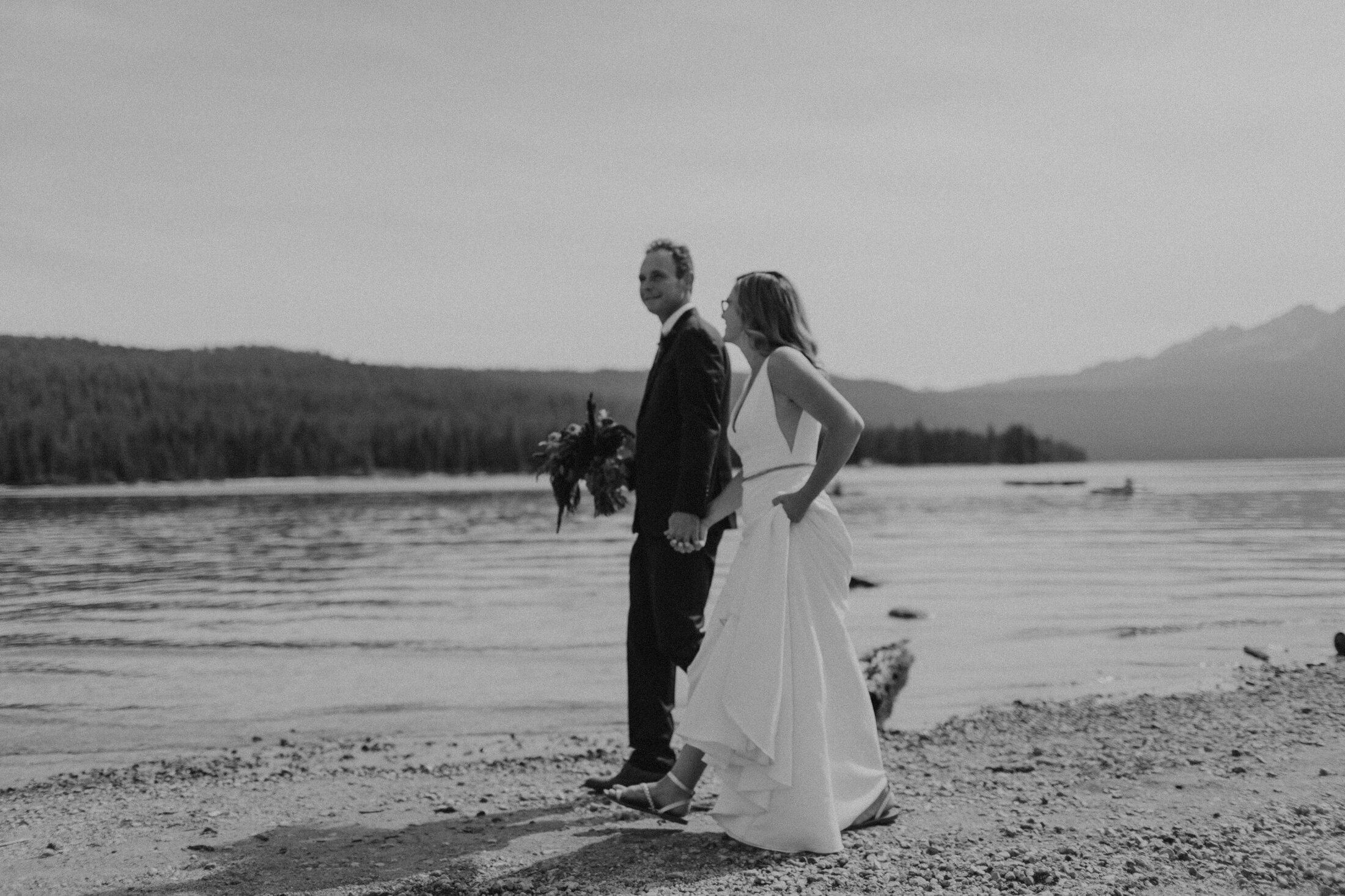 Brijean + Andy | Redfish Lake Wedding