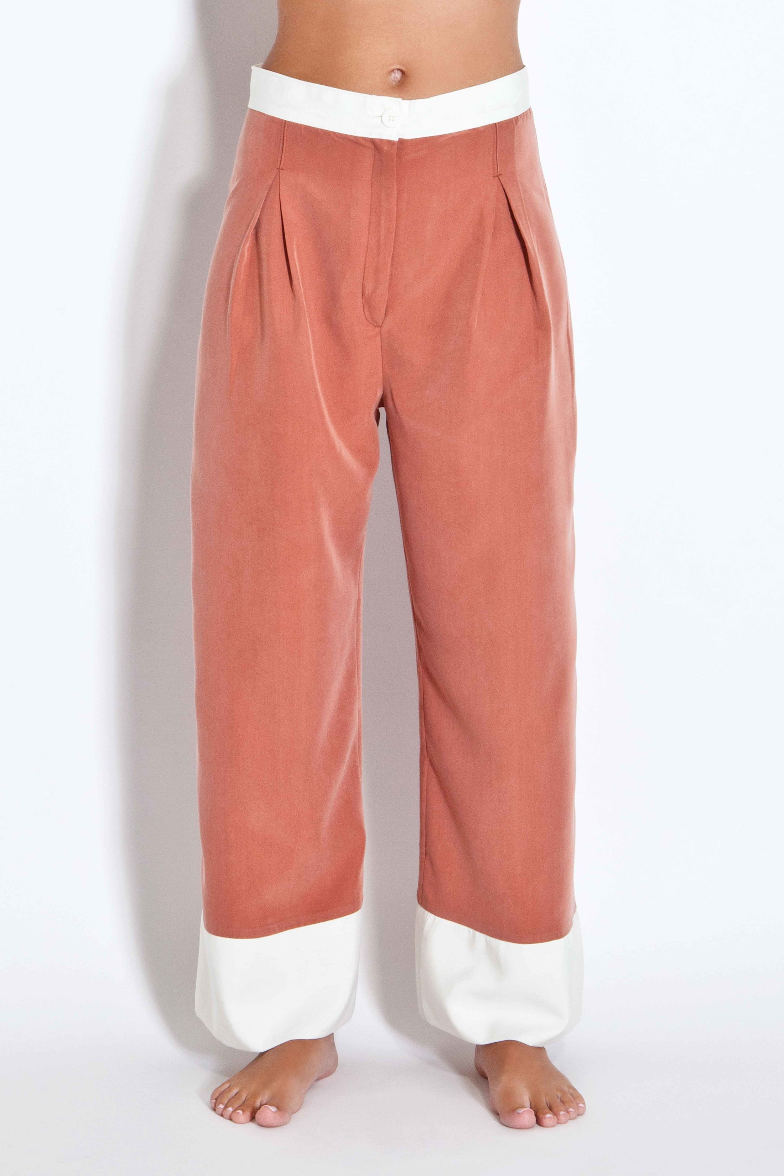 Two-toned trousers - Rust